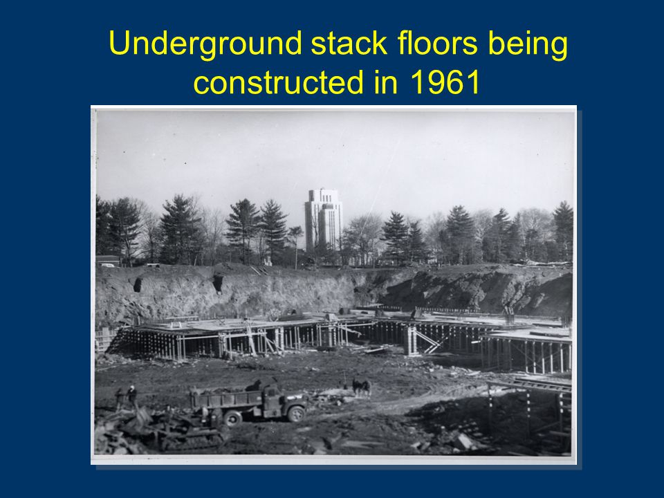 Underground stack floors being constructed in 1961