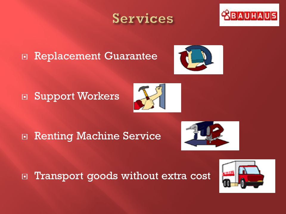 Replacement Guarantee Support Workers Renting Machine Service Transport goods without extra cost