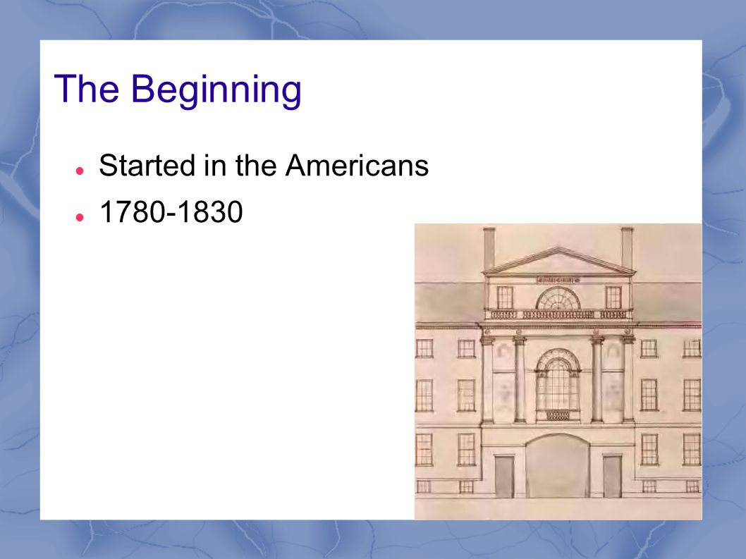 The Beginning Started in the Americans 1780-1830