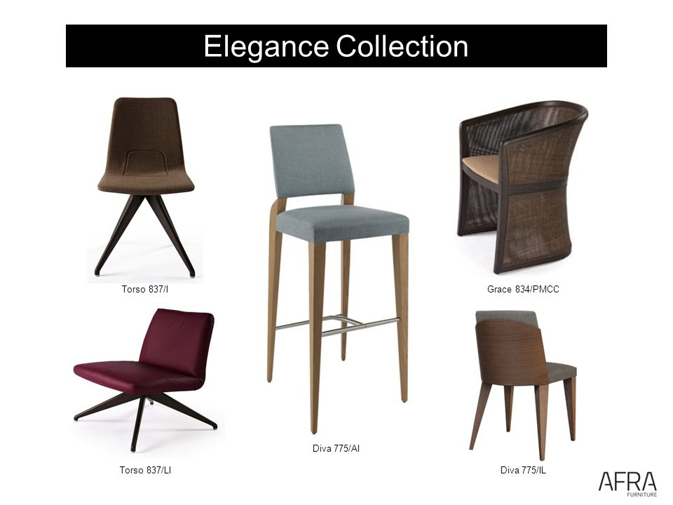 Elegance Collection Torso 837/I Torso 837/LI Diva 775/AI Diva 775/IL Grace 834/PMCC