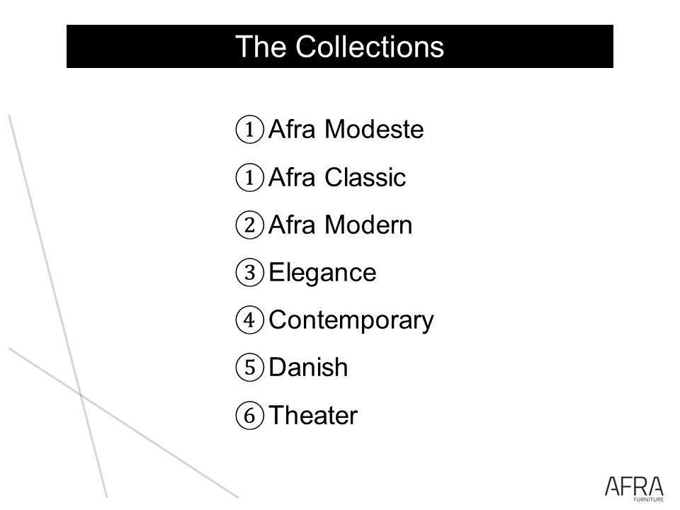 The Collections Afra Modeste Afra Classic Afra Modern Elegance Contemporary Danish Theater