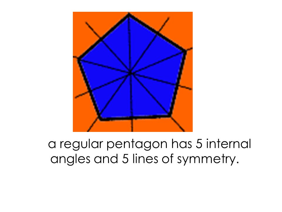 a square has 4 internal angles and 4 lines of symmetry.
