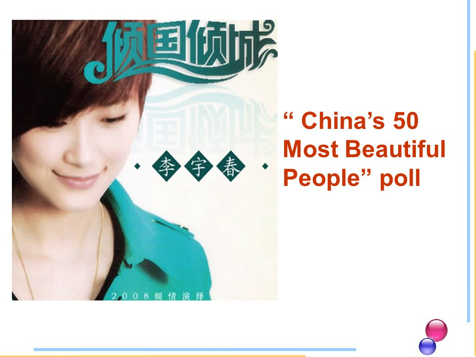 Chinas 50 Most Beautiful People poll