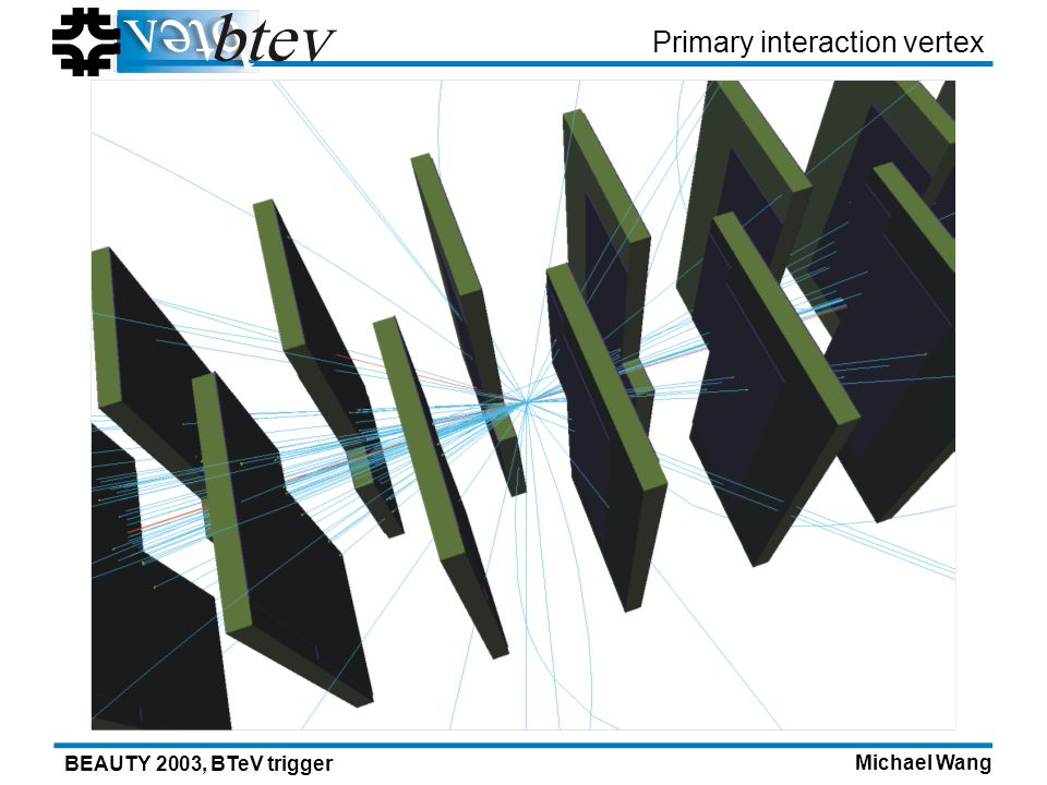 Michael Wang BEAUTY 2003, BTeV trigger Primary interaction vertex