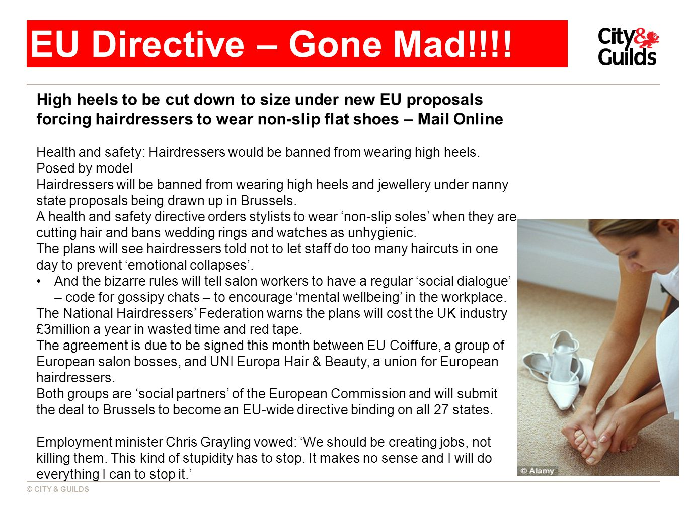 © CITY & GUILDS EU Directive – Gone Mad!!!.