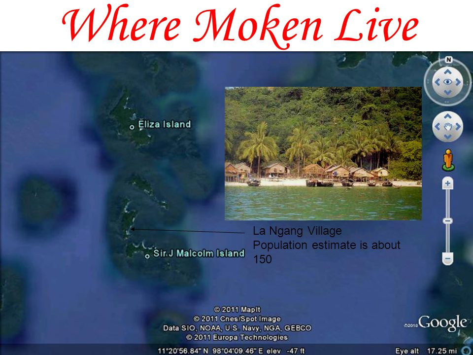 Where Moken Live La Ngang Village Population estimate is about 150