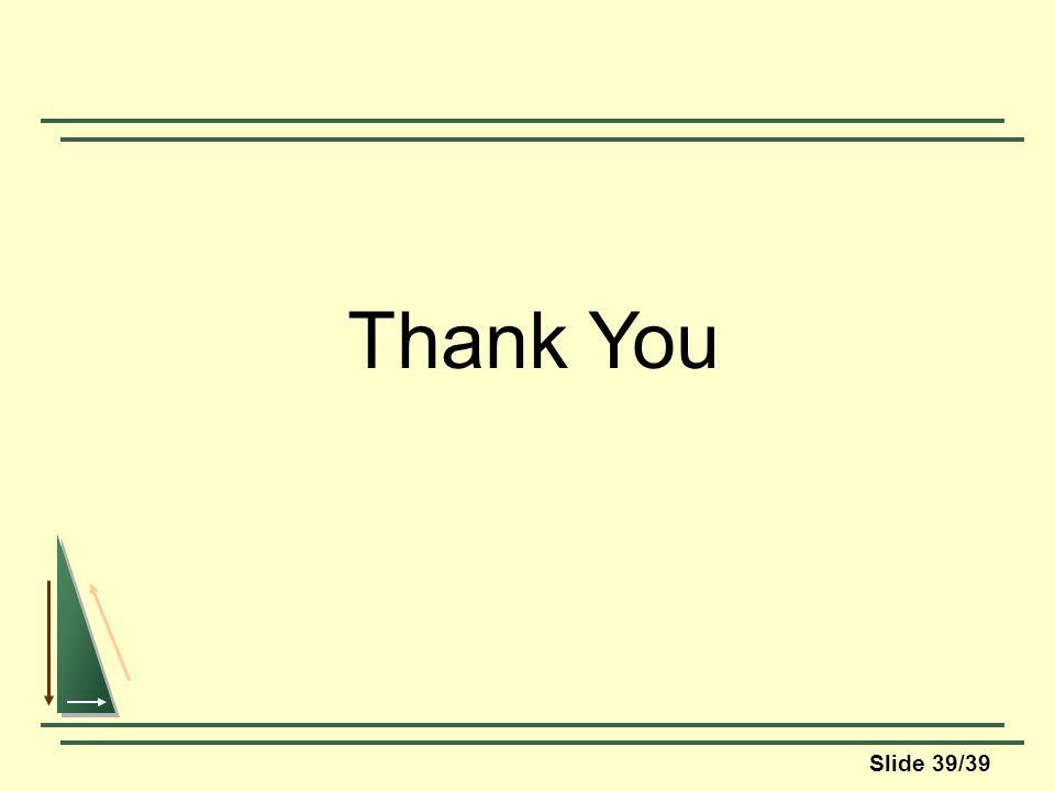 Slide 39/39 Thank You