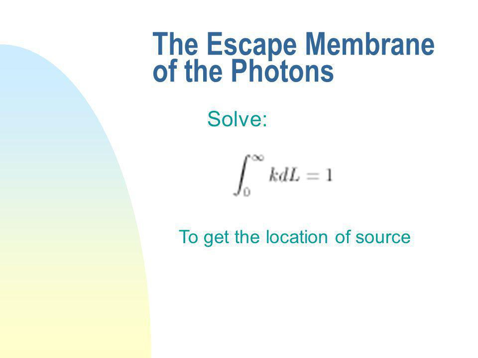 The Escape Membrane of the Photons Solve: To get the location of source