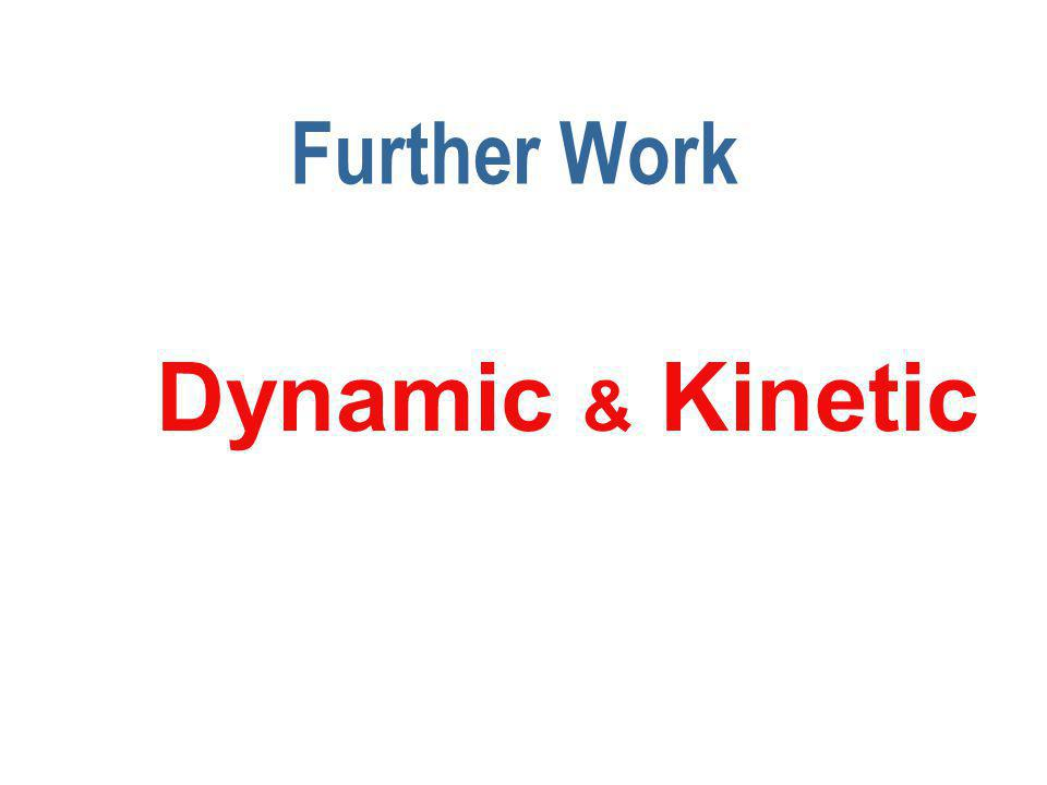 Further Work Dynamic & Kinetic