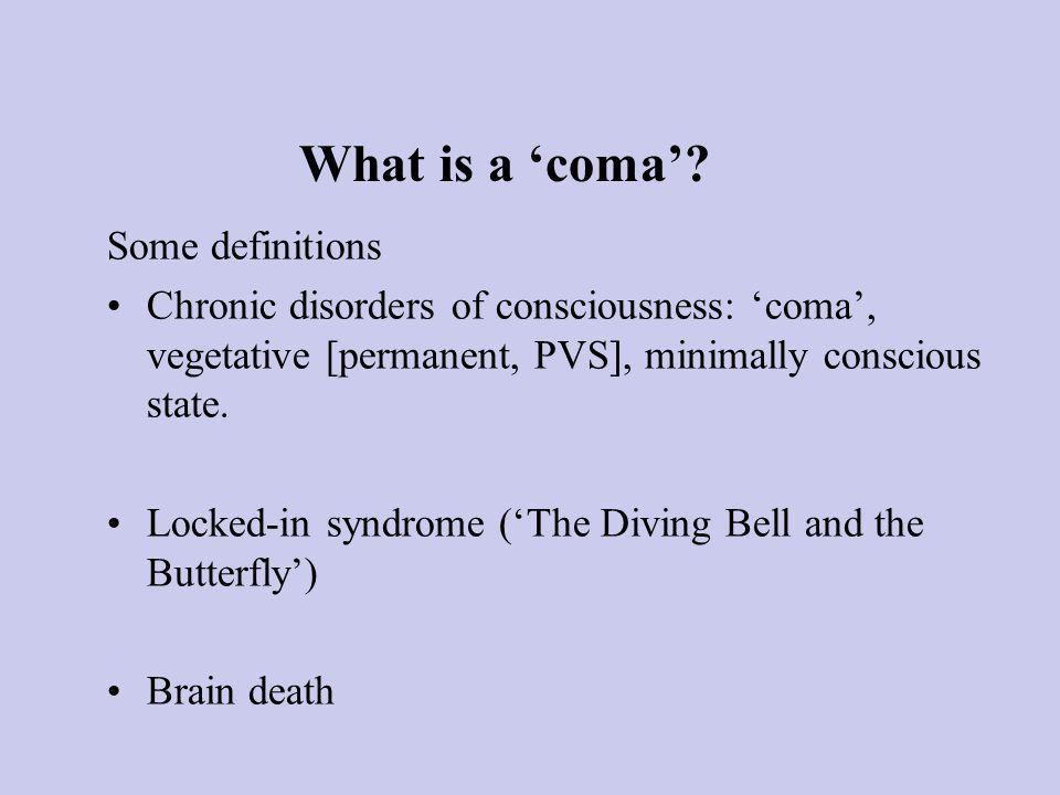 What is a coma.