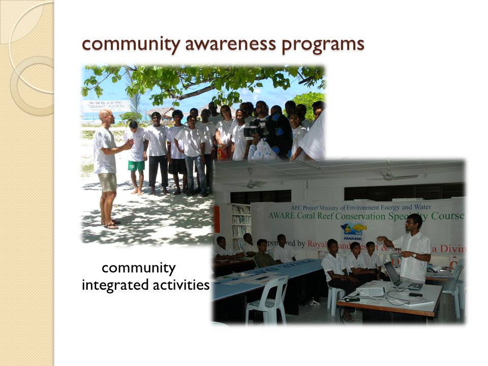 community awareness programs community integrated activities