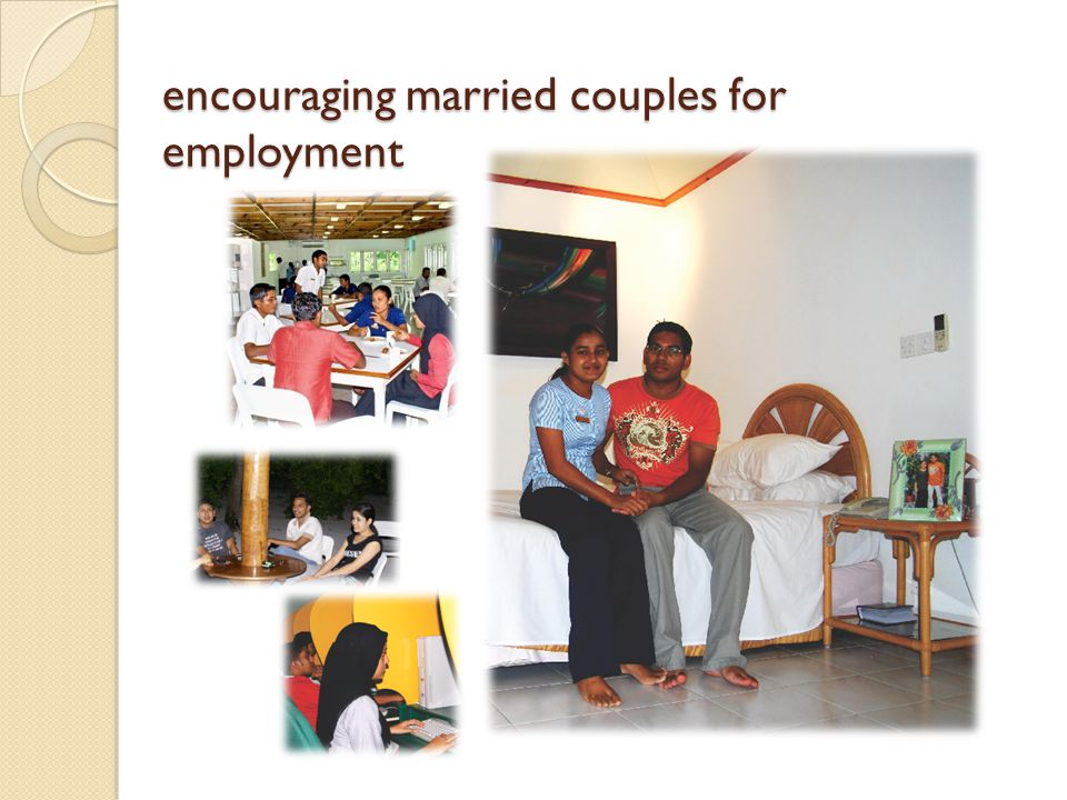 encouraging married couples for employment