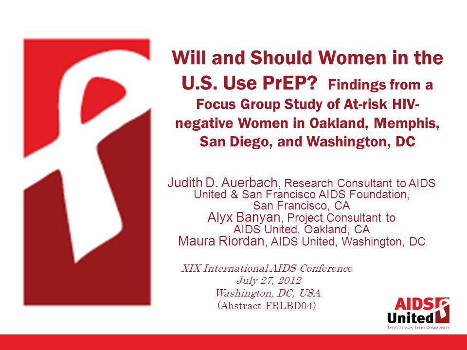 Will and Should Women in the U.S. Use PrEP.