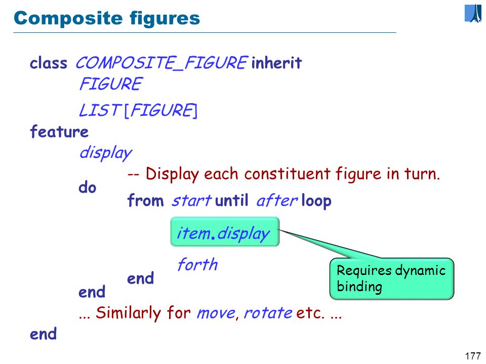 176 A composite figure as a list Cursor item forth after