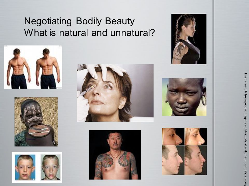 Negotiating Bodily Beauty What is natural and unnatural.