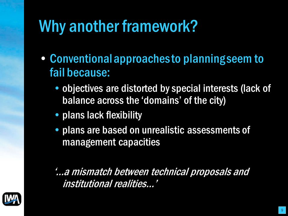 9 Why another framework.