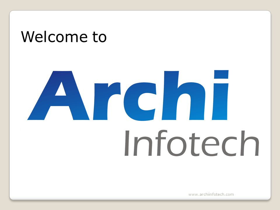 Welcome to www.archiinfotech.com
