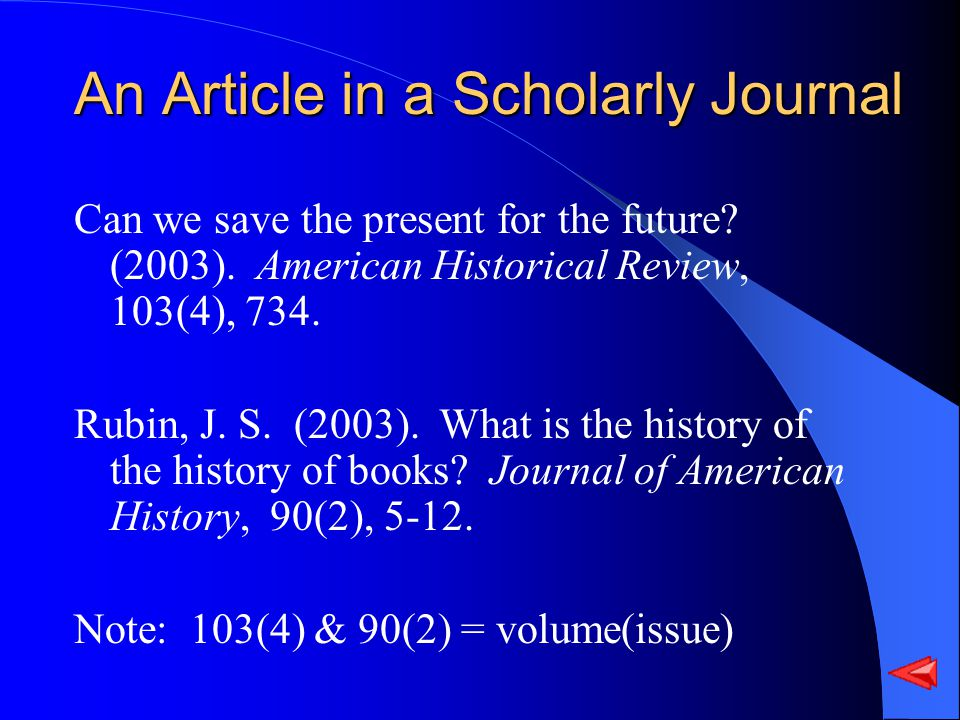 An Article in a Scholarly Journal Can we save the present for the future.