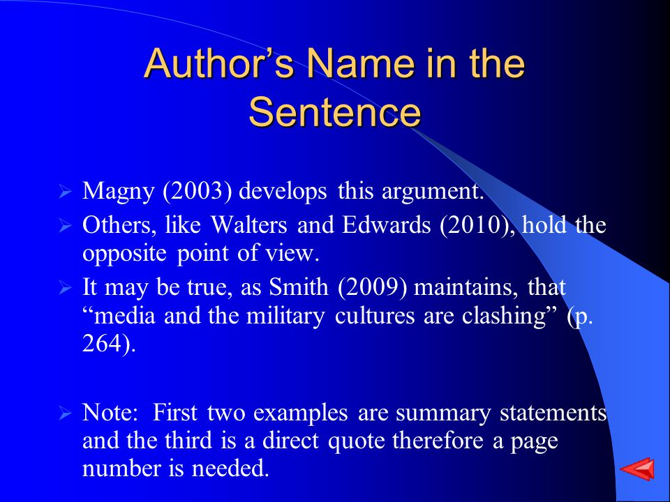 Authors Name in the Sentence Magny (2003) develops this argument.