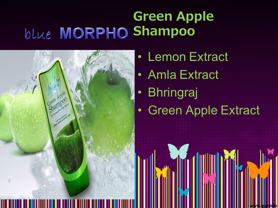 Green Apple Shampoo Lemon Extract Amla Extract Bhringraj Green Apple Extract
