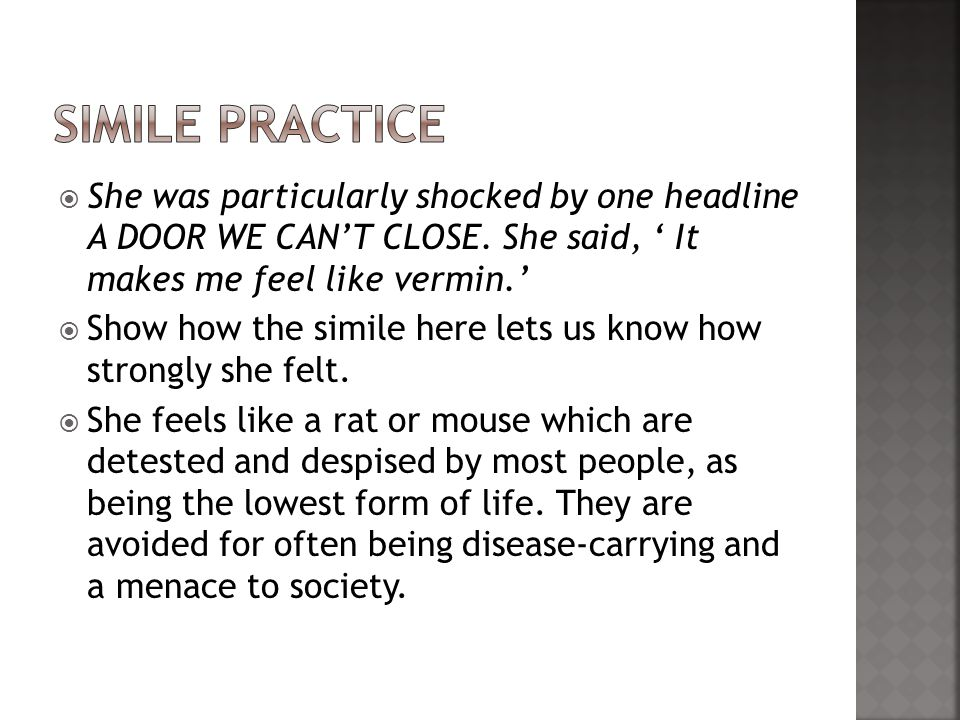She was particularly shocked by one headline A DOOR WE CANT CLOSE.