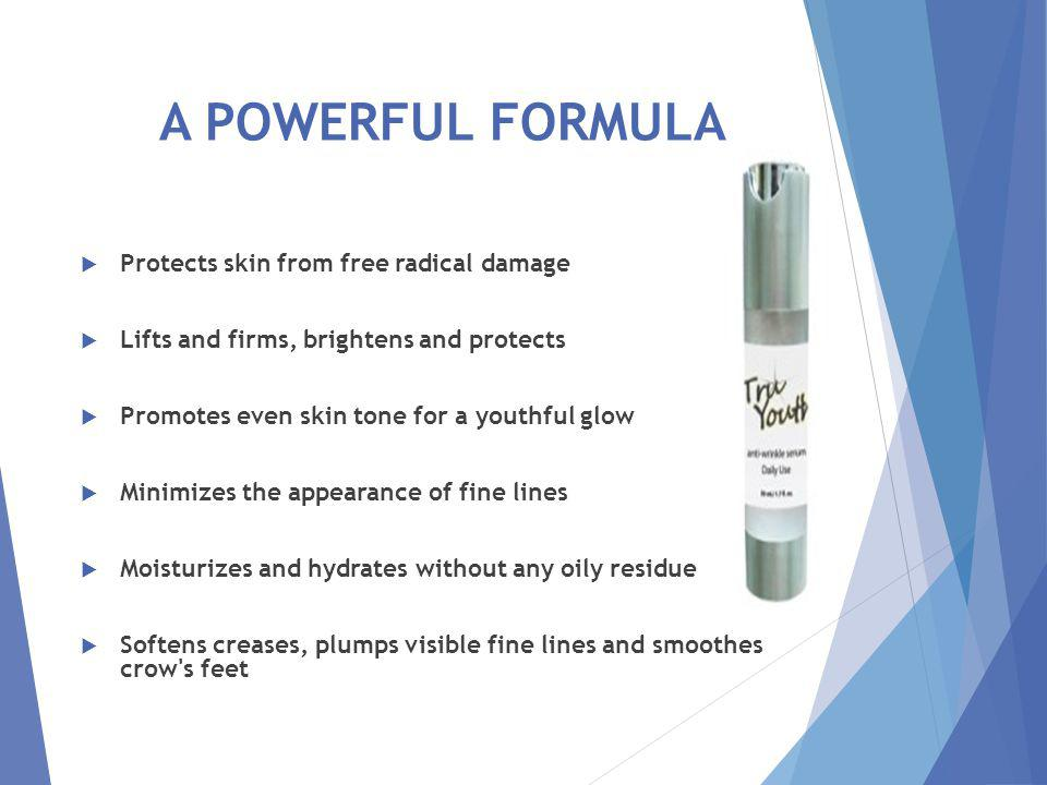LOOK BETTER WITH TRU Youth Powerful anti-wrinkle formula boosts six skin-rebuilding essentials