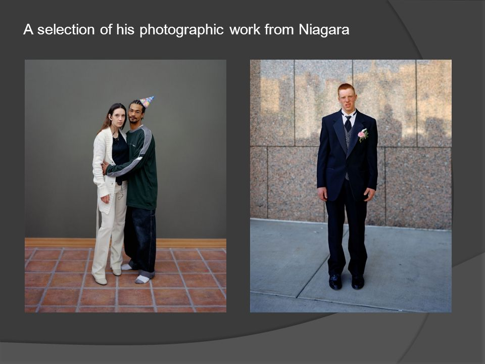A selection of his photographic work from Niagara
