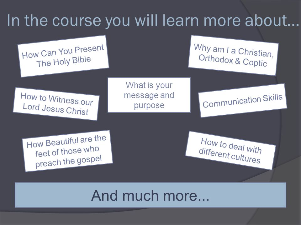 Come and take the chance! Join our Evangelism 3 rd course Now its time.