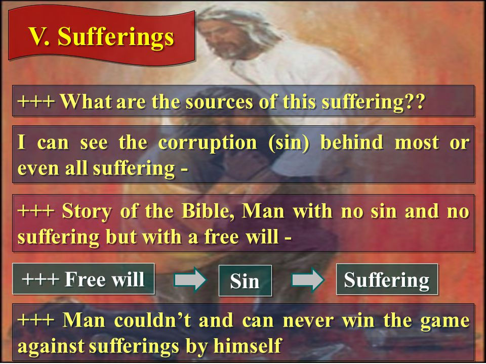 V. Sufferings +++ What are the sources of this suffering .