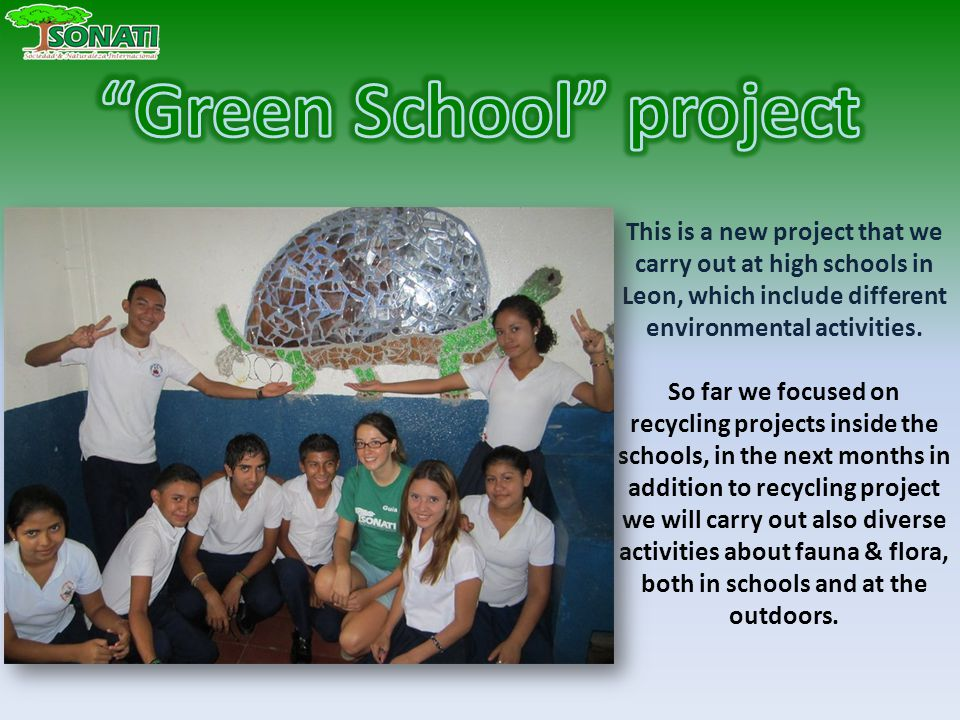 This is a new project that we carry out at high schools in Leon, which include different environmental activities.