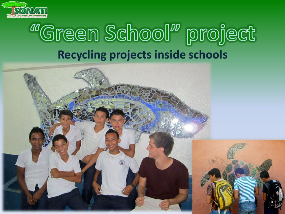 Recycling projects inside schools