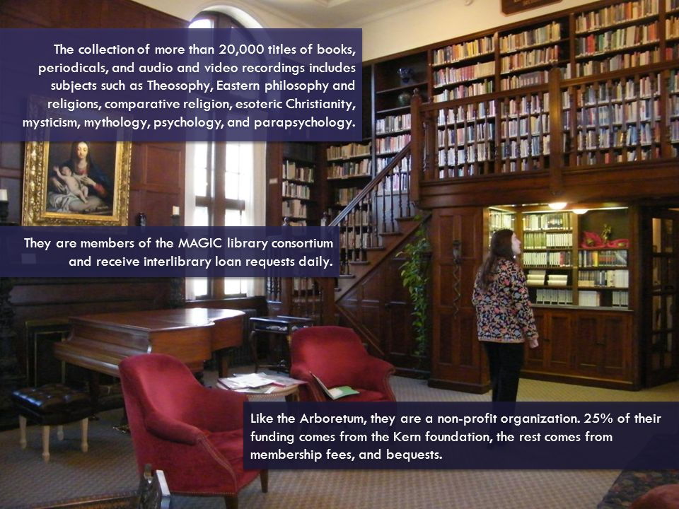 They are members of the MAGIC library consortium and receive interlibrary loan requests daily.