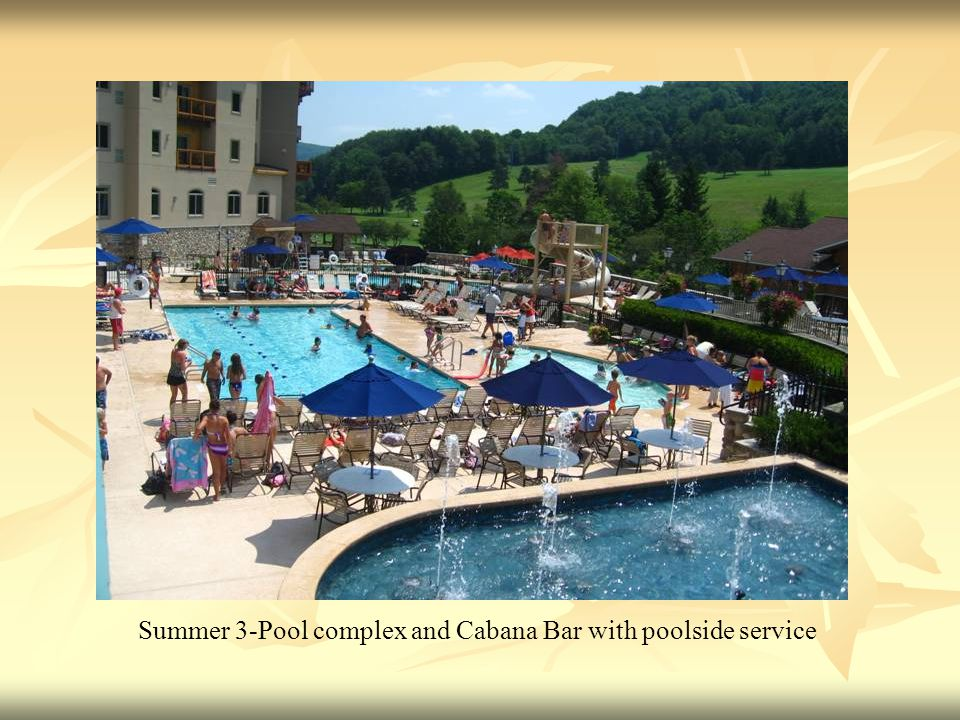 Summer 3-Pool complex and Cabana Bar with poolside service