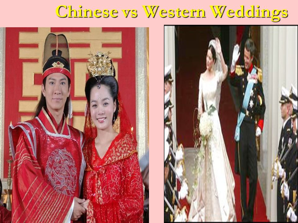Chinese vs Western Weddings