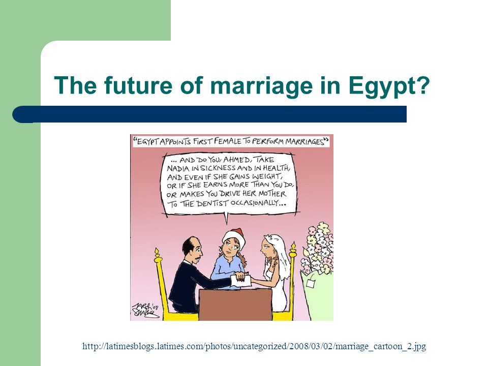 The future of marriage in Egypt.