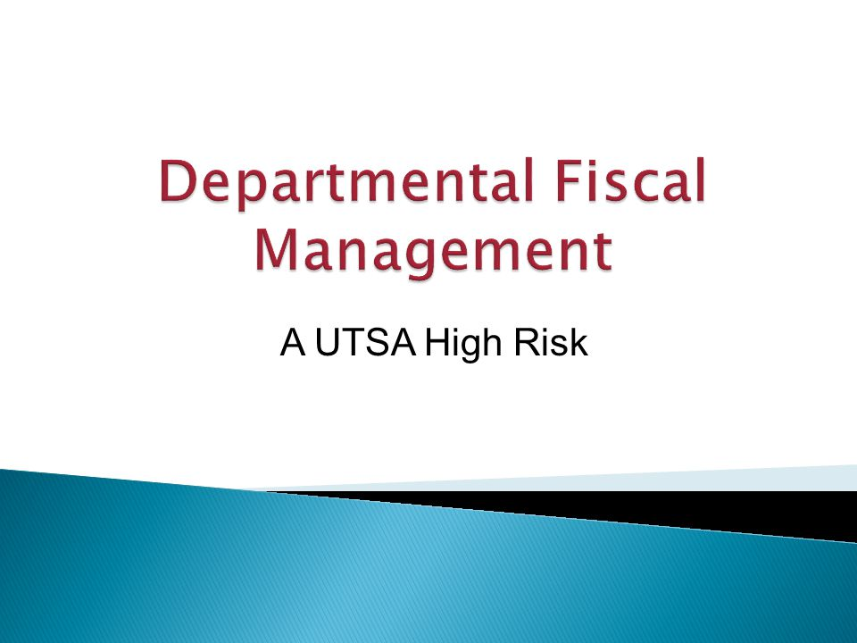 A UTSA High Risk