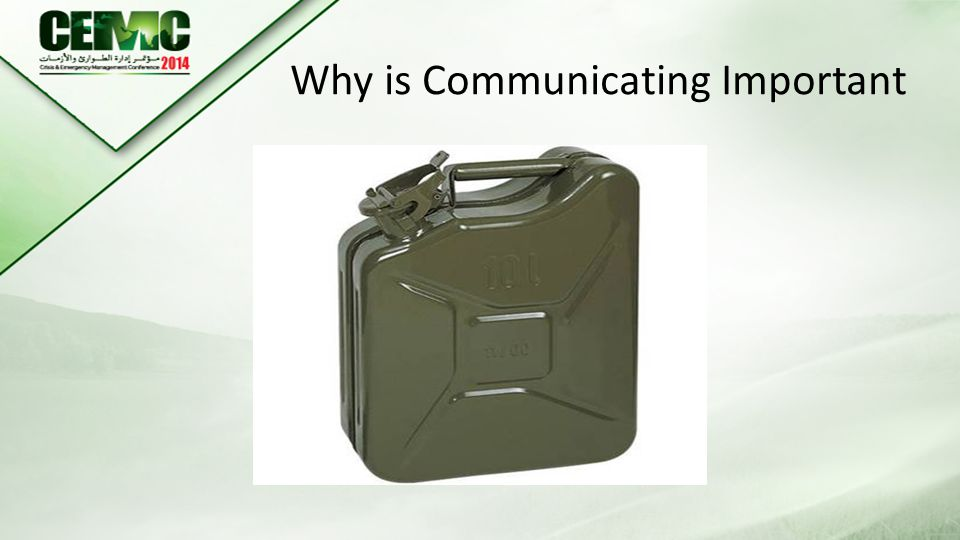 Why is Communicating Important