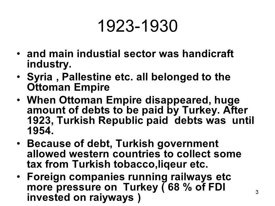 3 1923-1930 and main industial sector was handicraft industry.