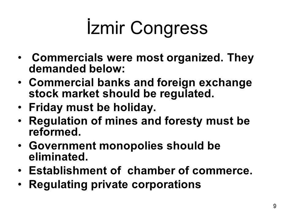 9 İzmir Congress Commercials were most organized.