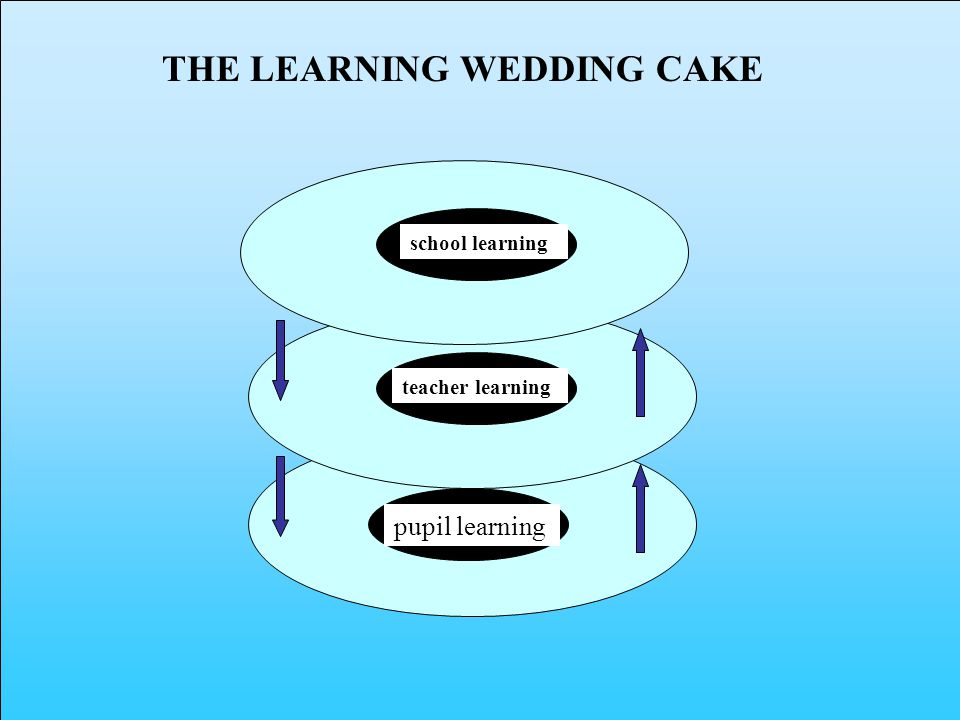 pupil learning teacher learning school learning THE LEARNING WEDDING CAKE