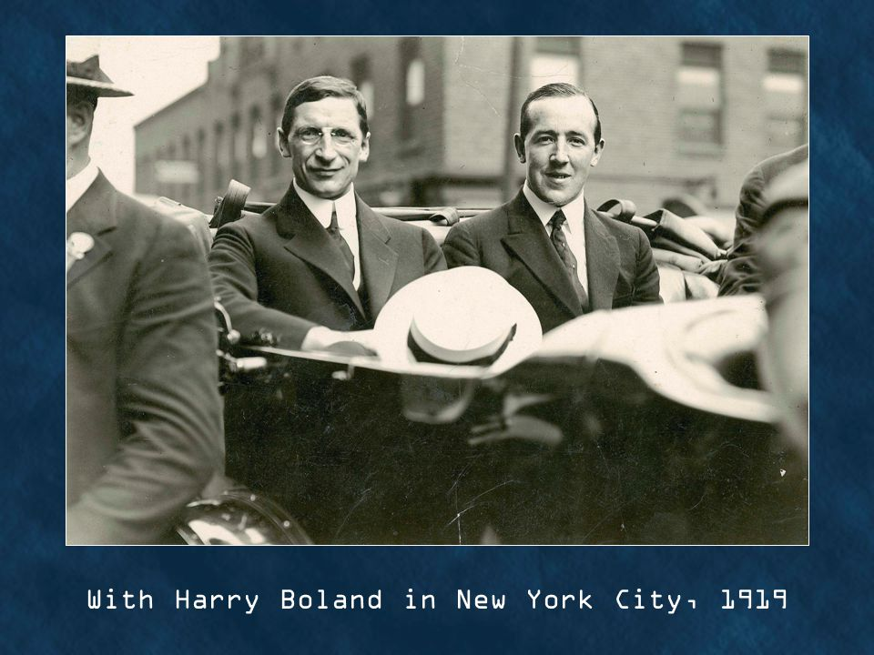 With Harry Boland in New York City, 1919