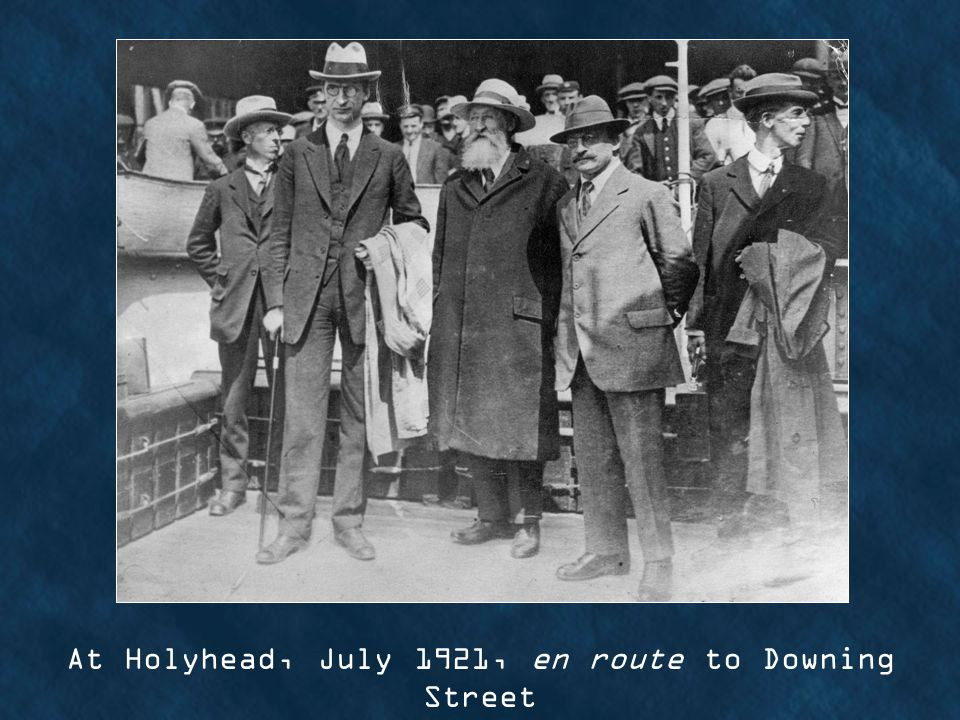 At Holyhead, July 1921, en route to Downing Street