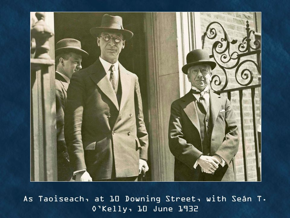 As Taoiseach, at 10 Downing Street, with Seán T. OKelly, 10 June 1932