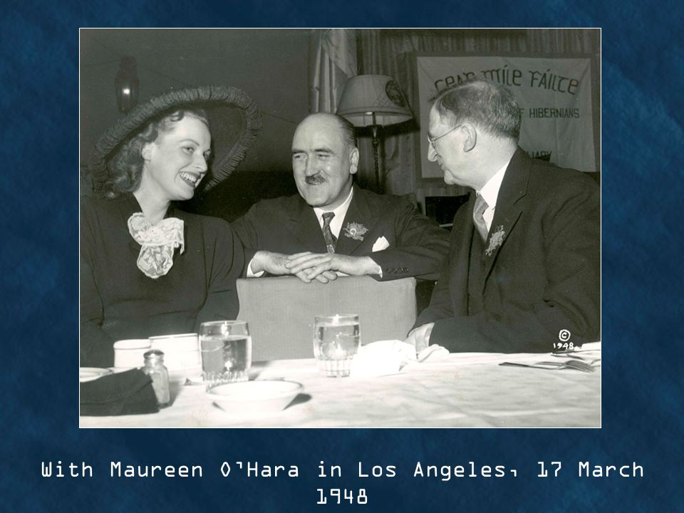 With Maureen OHara in Los Angeles, 17 March 1948