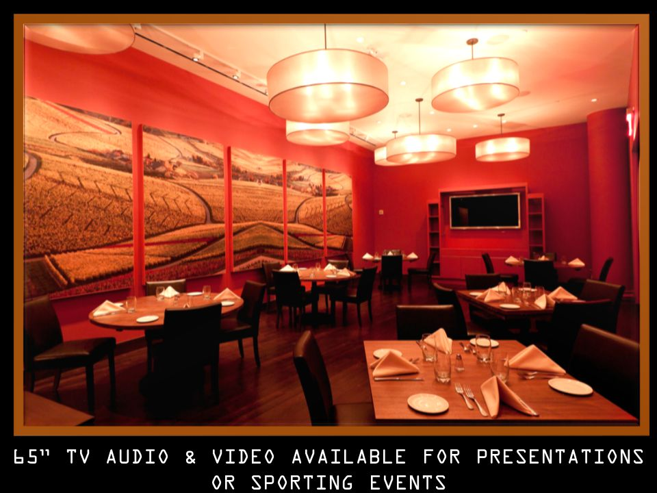 65 TV AUDIO & VIDEO AVAILABLE FOR PRESENTATIONS OR SPORTING EVENTS