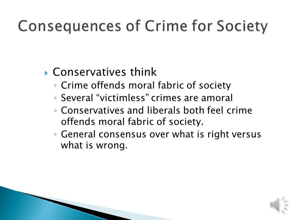 Conservatives believe Crime is a product of individual choice (Choice Theory) People weigh costs and benefits of crime People make rational choices Deterrence is possible Hard-line liberals believe the exact opposite