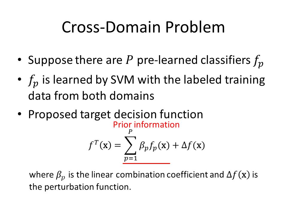 Cross-Domain Problem Prior information