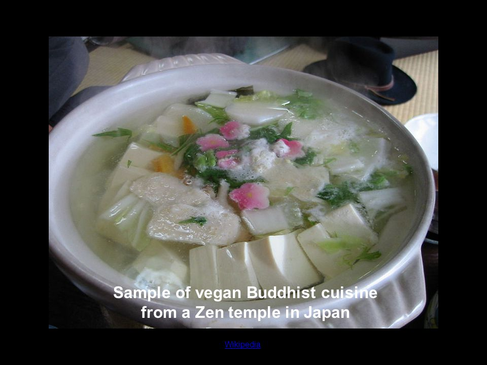 Wikipedia Sample of vegan Buddhist cuisine from a Zen temple in Japan