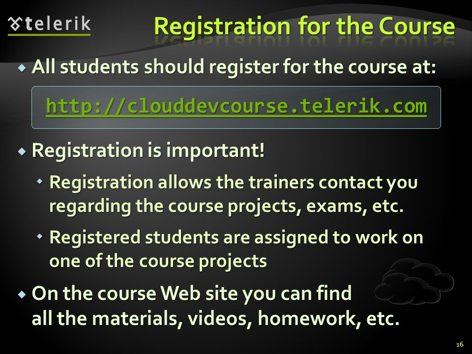 All students should register for the course at: All students should register for the course at: Registration is important.