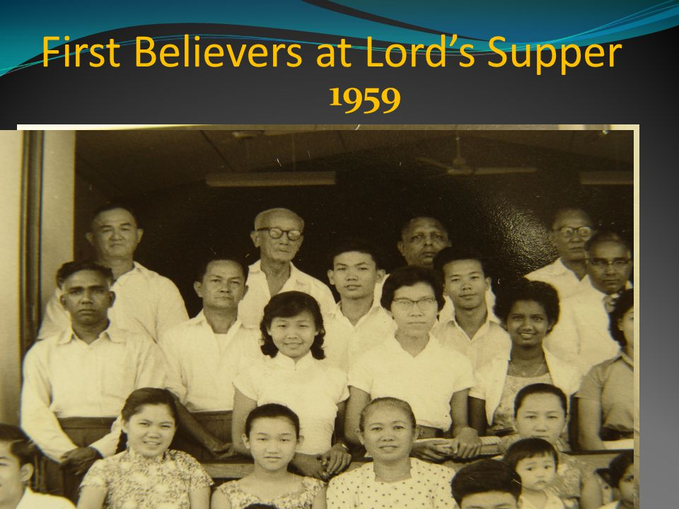 First Believers at Lords Supper 1959